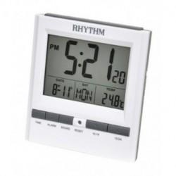 Despertador Digital con dos alarmas, luz y termómetro de RHYTHM Japan LCT078NR03