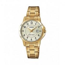 Reloj Señora Casio dorado con numeros LTP-V004G-9B