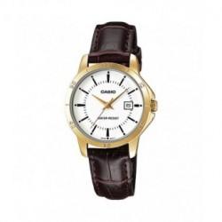 Reloj Señora Casio dorado con correa de piel LTP-V004GL-7A