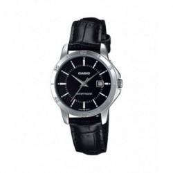 Reloj Señora Casio plateado con correa de piel LTP-V004L-1A