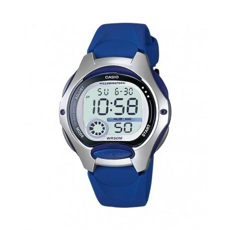 661f3fe33282 Reloj pusera CASIO para niños en color azul y sumergible LW-200-2A