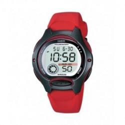 Reloj pusera CASIO para niños en color rojo y sumergible LW-200-4A