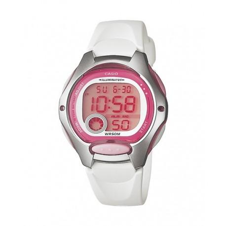 b1b5dd7310a5 Reloj pusera CASIO para niños en color blanco y sumergible LW-200-4A