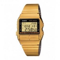 Reloj retro vintage dorado con telememo unisex CASIO DB-520G-1D