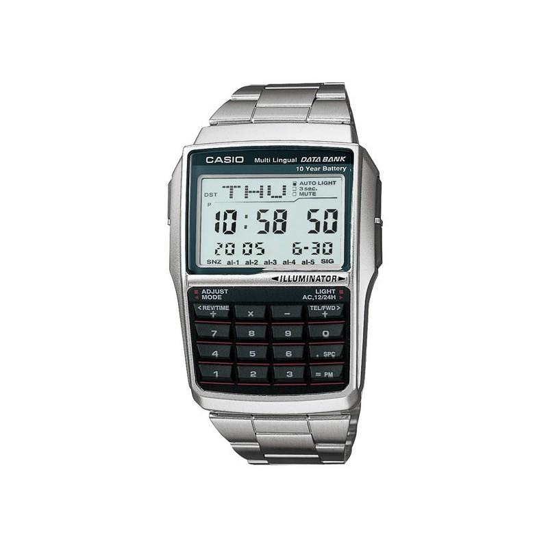045d24cb6359 Reloj retro vintage con calculadora y telememo CASIO DBC-32D-1A