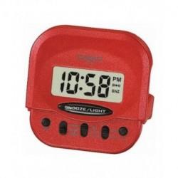 RELOJERIA Despertador pequeño Digital para Viaje cuadrado color rojo CASIO PQ-30-4D PARA: viaje; TIPO: digital; COLOR: