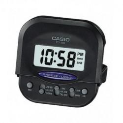 Despertador pequeño Digital para Viaje cuadrado color negro CASIO PQ-30B-1EF