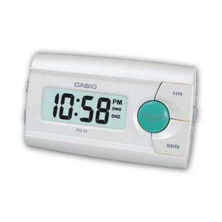 Despertador para ViajeS digital color blanco CASIO PQ-31-7E