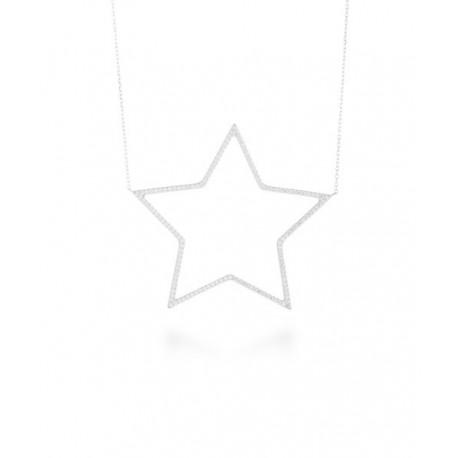 Collar Plata Circonitas Estrella Ofrem L