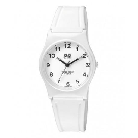 e6443a7c66da Reloj sumergible para mujer y niños color blanco de Q Q by Citizen VP34J062Y