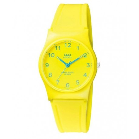 341b5de21d6f Reloj sumergible para mujer y niños color amarillo de Q Q by Citizen  VP34J063Y