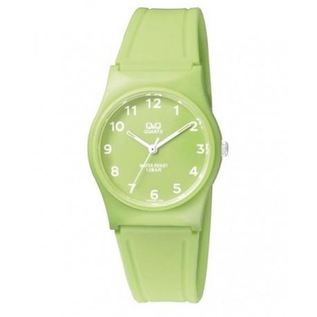 Reloj sumergible para mujer y niños color pistacho de Q&Q by Citizen VP34J065Y