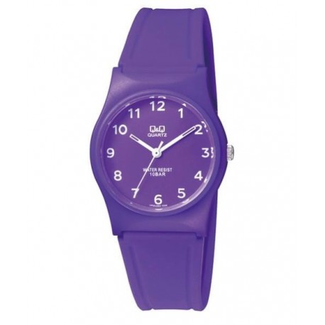 26d58162aab7 Reloj sumergible para mujer y niños color lila de Q Q by Citizen VP34J068Y