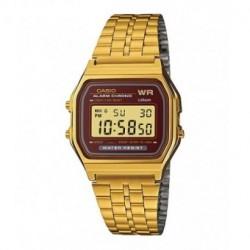 Reloj retro dorado de moda CASIO para hombre y mujer A-159WG-5E