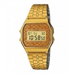 Reloj retro dorado de moda CASIO para hombre y mujer A-159WG-9A