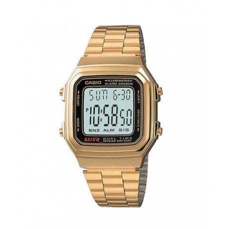 68dca64a924b Reloj retro dorado digital de moda CASIO para hombre y mujer A-178WG-1A
