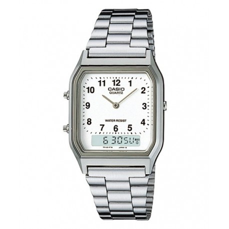 9de293c710db Encuentra Reloj retro plateado Analógico-digital CASIO AQ-230A-7B