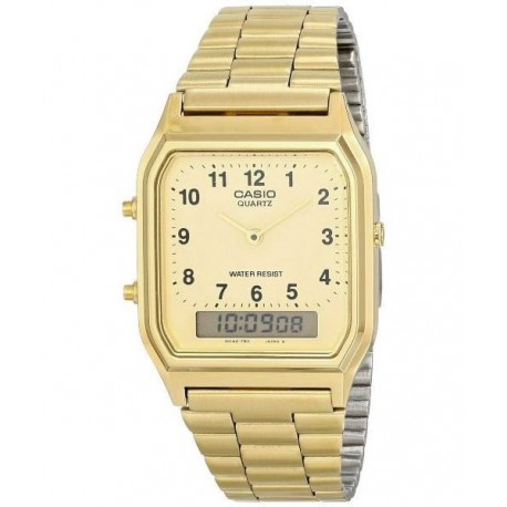 1806e52ce95c Encuentra Reloj retro dorado Analógico-digital CASIO AQ-230G-9B