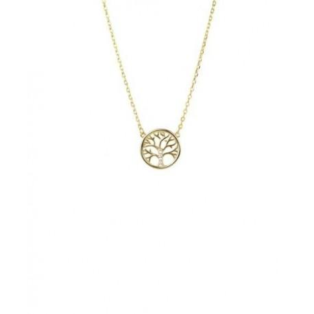29a09868044e Collar Gargantilla Plata Baño Oro Arbol Vida Circonitas Luxenter