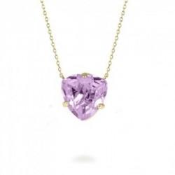 Collar Colgante Metal Dorado Cristal Lila TRILLIANTE Hannibal Laguna Luxenter
