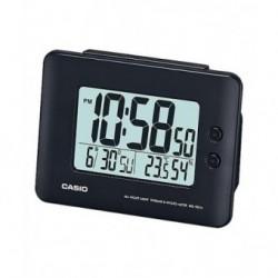Despertador Digital con digitos grandes color negro de CASIO con termómetro y higrometro DQ-982-1D