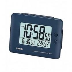 Despertador Digital con digitos grandes color azul de CASIO con termómetro y higrometro DQ-982-2D