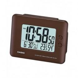 Despertador Digital con digitos grandes color marron de CASIO con termómetro y higrometro DQ-982-5D