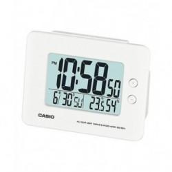 Despertador Digital con digitos grandes color blanco de CASIO con termómetro y higrometro DQ-982-7D