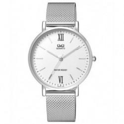 Reloj de moda unisex plateado esfera blanca Q&Q by Citizen QA20J211Y