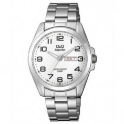 Reloj Caballero doble Calendario con numeros arabes Q&Q by Citizen S284J204Y