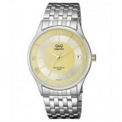Reloj Caballero con Calendario y esfera champan Q&Q S288J206Y