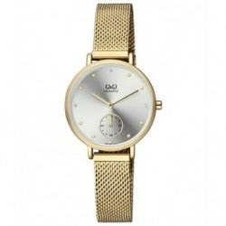 Reloj de moda retro dorado para mujer Q&Q by Citizen QA97J001Y