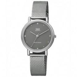 Reloj de moda para mujer plateado esfera gris Q&Q by Citizen QA21J232Y