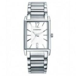 Reloj Caballero Rectangular plateado Viceroy 40698-05