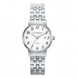 Reloj Pulsera clasico sumergible con cadena y numeros para señora de Viceroy 42224-01