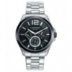 Reloj cronógrafo moderno sumergible de acero para Hombre by Viceroy 46679-53