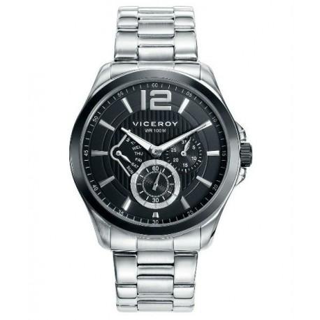 d4725e870858 Reloj cronógrafo moderno sumergible de acero para Hombre by Viceroy 46679-53