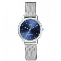 Reloj de moda para mujer esfera azul Q&Q by Citizen QA21J202Y