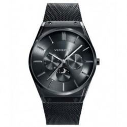 Reloj de moda todo negro con brazalete de malla muy elegante para Hombre by Viceroy 42245-57