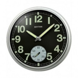 Reloj Pared Rhythm con vision nocturna CMG774BR19