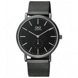 Relojes ultima tendencia negro con pulsera de malla para Hombre y Mujer Unisex Q97J402Y
