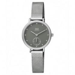 Reloj de moda retro para mujer esfera gris Q&Q by Citizen QA97J202Y