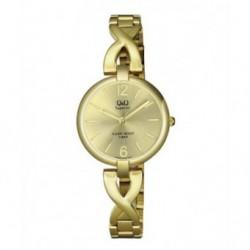 Reloj Sumergible dorado de diseño para Mujer de Q&Q by Citizen S297J010Y