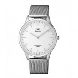 Reloj Q&Q de moda Acero Sumergible para Hombre esfera blanca S306J201Y
