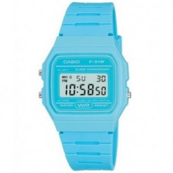 RELOJ RETRO COLOR AZUL CASIO F-91WC-2A