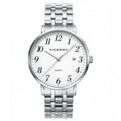 Reloj Pulsera clasico sumergible con cadena y numeros para caballero de Viceroy 40898-97