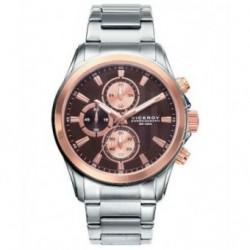 Reloj Pulsera elegante para Caballero bicolor de oro rosa con cadena Viceroy 46669-47