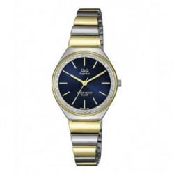 Reloj bicolor Mujer sumergible esfera azul de Q&Q by Citizen S293J402Y