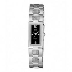 Relojes QdeQ rectangular para Mujer sumergible esfera negra S299J212Y