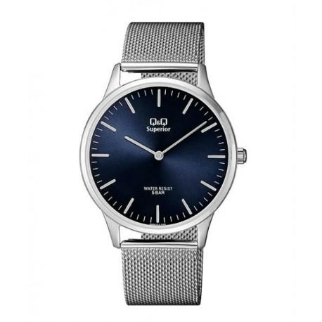 fcdb64097c6d Relojes Q Q de moda Acero Sumergible Hombre con esfera azul S306J212Y
